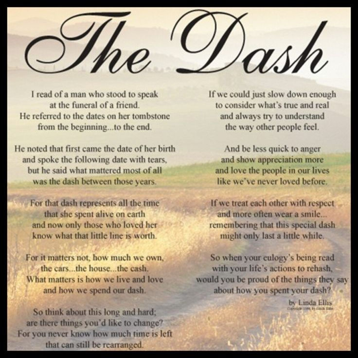 Image result for the dash poem